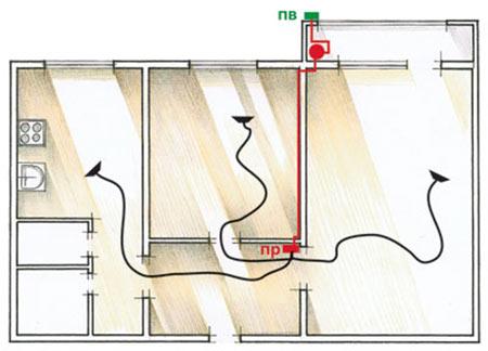 Схема двухкомнатной квартиры